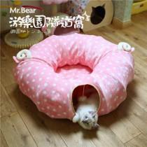 ★國際貓家★甜甜圈折疊貓隧道窩-綿羊羊/喵吉吉
