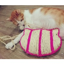 ☆國際貓家☆貓頭造型麻繩貓抓板