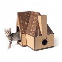 ☆國際貓家☆Hulumao Samurai House 呼嚕貓 武士之屋 (內附抓板)