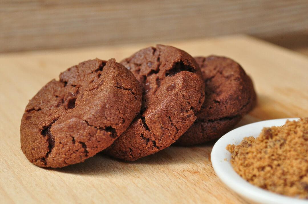黑糖巧克力圓酥手工餅乾