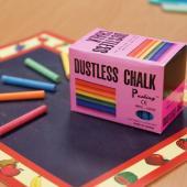 MPS-100C 硫酸鈣彩色粉筆 (100入裝) - Calcium Sulfate Dustless Chalks (colored 100pcs pack)