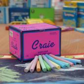 MPS-144C 硫酸鈣彩色粉筆 (144入裝) - Calcium Sulfate Dustless Chalks (colored 144pcs pack)