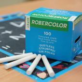 CW-100W 硫酸鈣白色粉筆 (100入裝)  - Calcium Sulfate Dustless Chalks (white 100pcs pack)