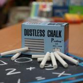 MPS-100W 硫酸鈣白色粉筆 (100入裝) - Calcium Sulfate Dustless Chalks (white 100pcs pack)