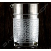 水晶攪拌杯 切子極致款630ml Crystal mixing glass (Extreme) H15cm
