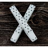 【日本直送】日式伸縮皮飾袖環(白底黑點) Sleeve garters(D23)