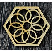 雷雕越南檜木杯墊B Vietnamese cypress coaster