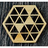 雷雕越南檜木杯墊C Vietnamese cypress coaster