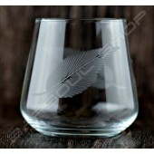 雕刻古典酒杯(葉子)350ml Engraved classical glass(leaf)