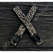 【日本直送】日式伸縮皮飾袖環(豹紋棕) Sleeve garters(D17)