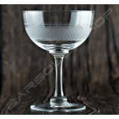 雕刻碟形香檳杯180ml 6pcs Engraved champagne Glass