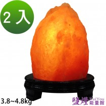 鹽燈能量館-精緻特選喜馬拉雅山鹽燈3.8~4.8kg 2入