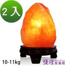 鹽燈能量館-精緻特選玫瑰寶石鹽晶燈10~11kg 2入