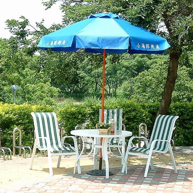 全鋁綠白條紋網布椅(82x57x98cm)