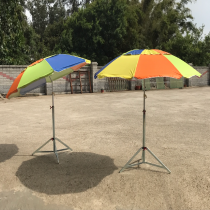 釣魚傘-尼龍銀膠子母傘
