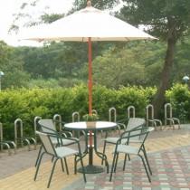 庭院休閒傘-纖維仿木傘架(鋁中棒)