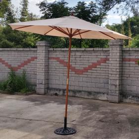庭院休閒傘-木傘架