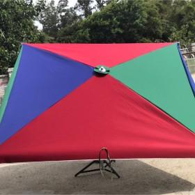 長方傘-特多龍布-抗UV銀膠布