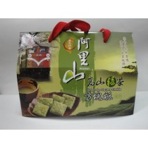 【僅展示無販售】阿里山高山綠茶方塊酥禮盒 600g