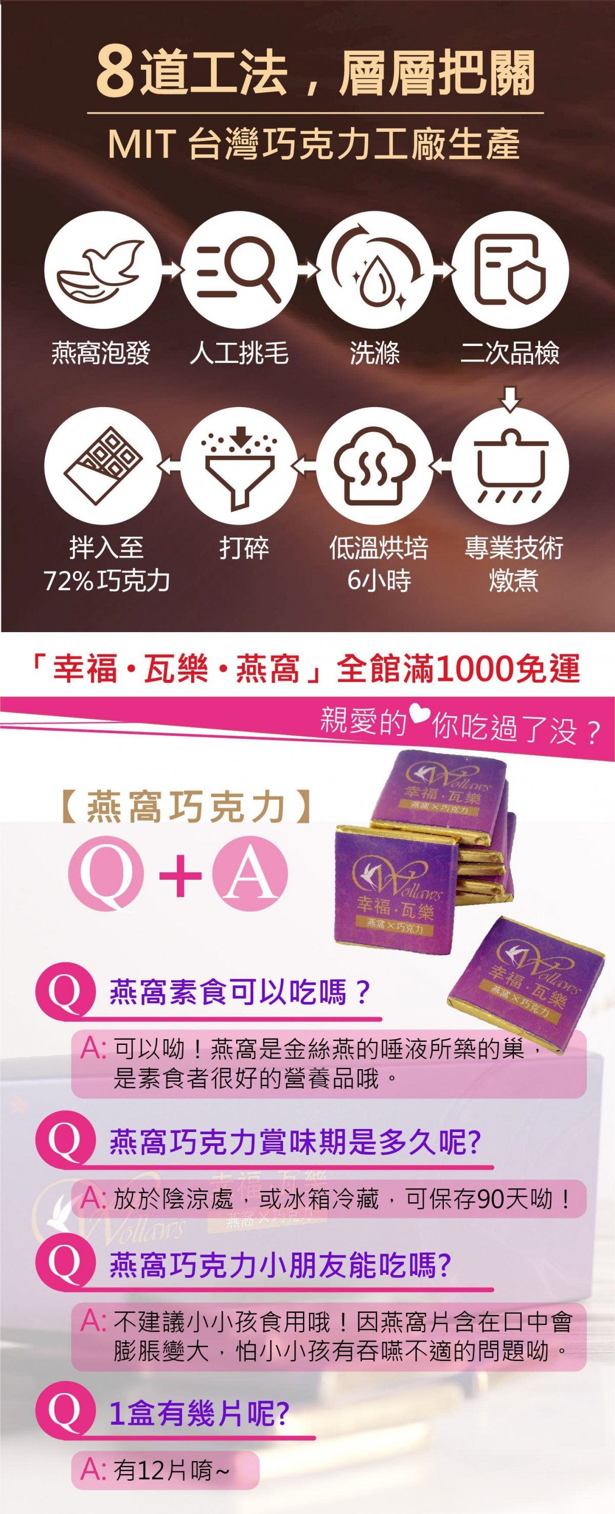頂級燕窩72%巧克力