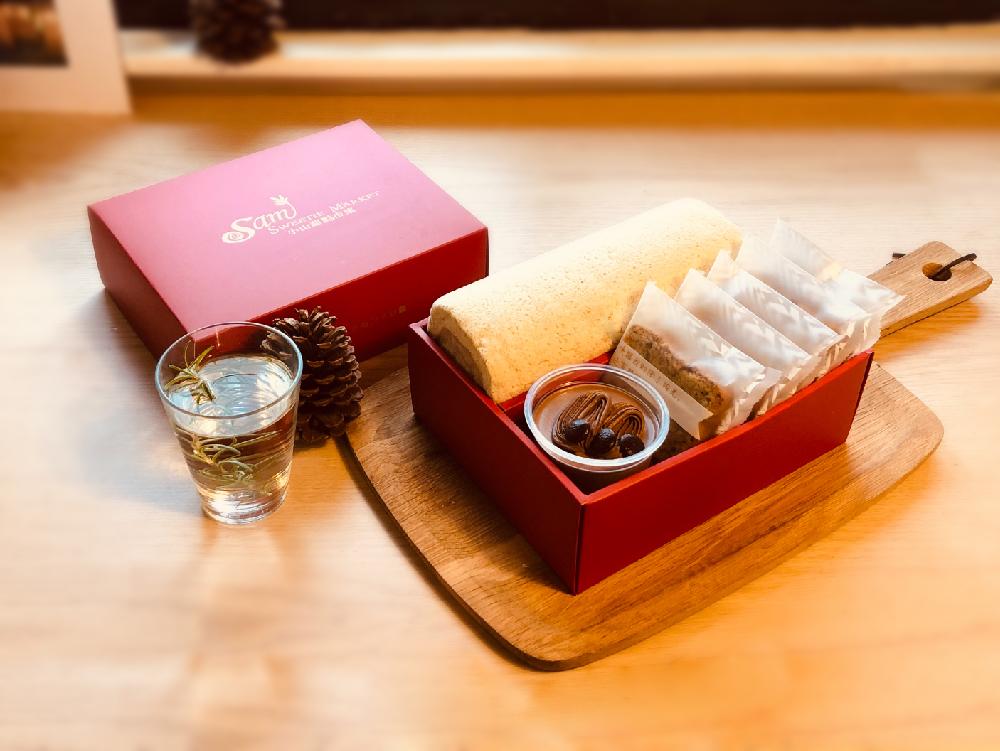 任選口味瑞士捲一條加1杯奶酪加5片熟成蛋糕彌月禮盒